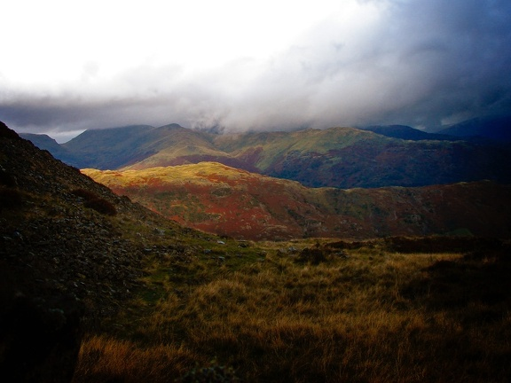 Low Cloud over the Langdales, October 2008
