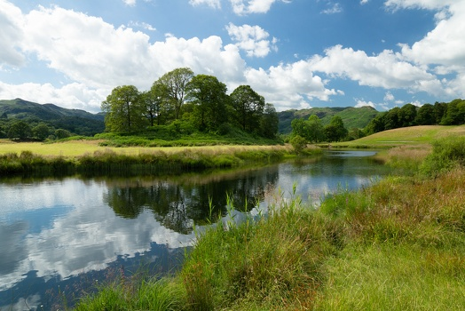 Reflections on River Brathay , July 2014