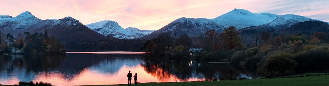 Sunset over Derwentwater, November 2016