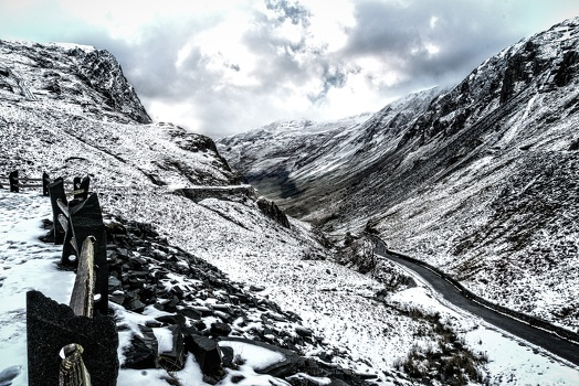 Honister Pass with Snow, November 2016