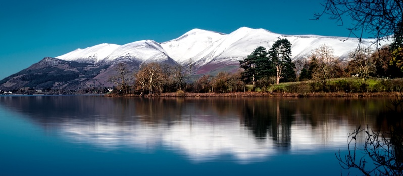 Skiddaw Range from Derwentwater, November 2016